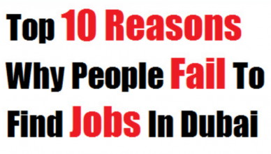 Top 10 Reasons why people fail to find jobs in Dubai