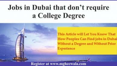 Jobs in Dubai that don't require a College Degree