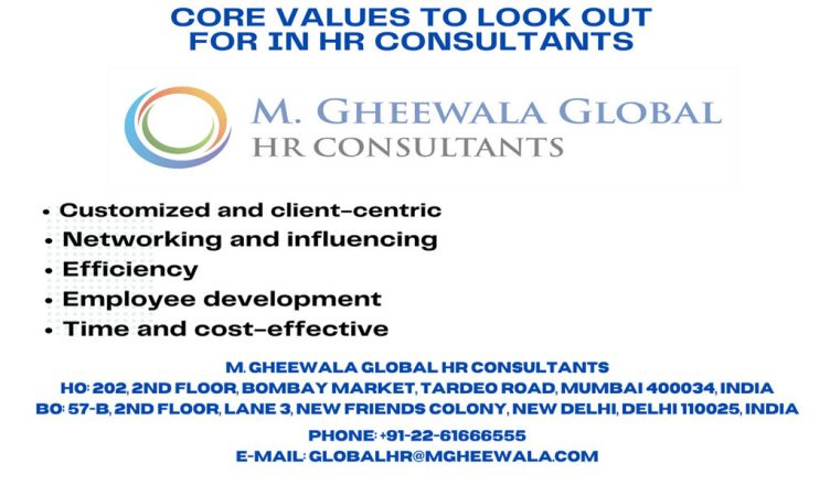 Core values to look out for in HR consultants